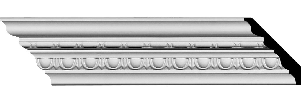 "3 5/8""H x 3 3/8""P x 5""F x 94 5/8""L Stockport Traditional Crown Moulding"