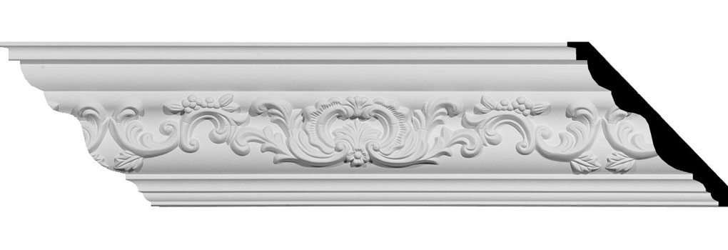 "4 1/2""H x 4 5/8""P x 6 3/8""F x 94 1/2""L Emery Crown Moulding"