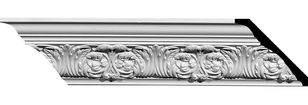 "3 3/4""H x 4 1/8""P x 5 1/2""F x 94 1/2""L Marcella Dentil Crown Moulding"