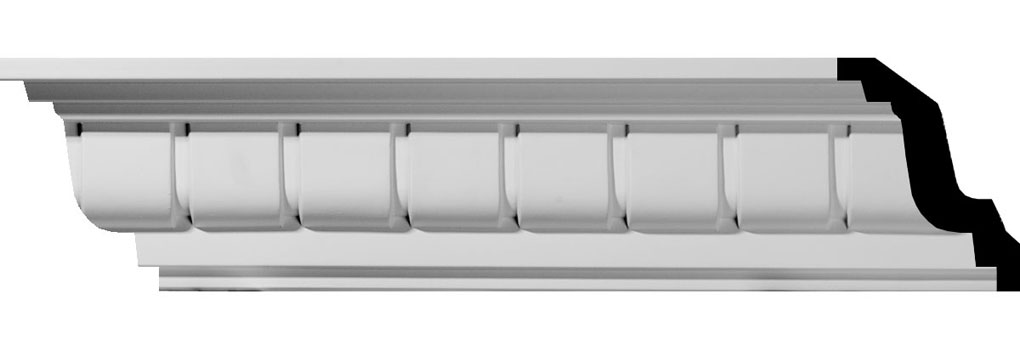 "4 1/4""H x 4 1/8""P x 5 1/4""F x 94 1/2""L Eris Dentil Crown Moulding"