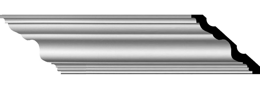 "5 5/8""H x 6 3/8""P x 8 1/2""F x 94 1/2""L Versailles Smooth Crown Moulding"