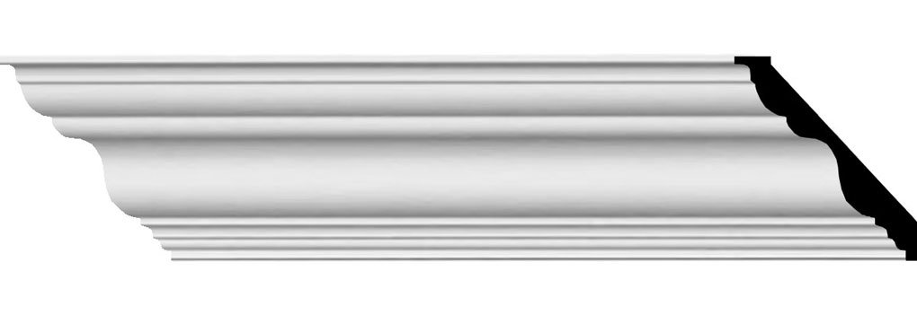 "3 7/8""H x 3 7/8""P x 5 1/2""F x 94 1/2""L Dublin Traditional Smooth Crown Moulding"