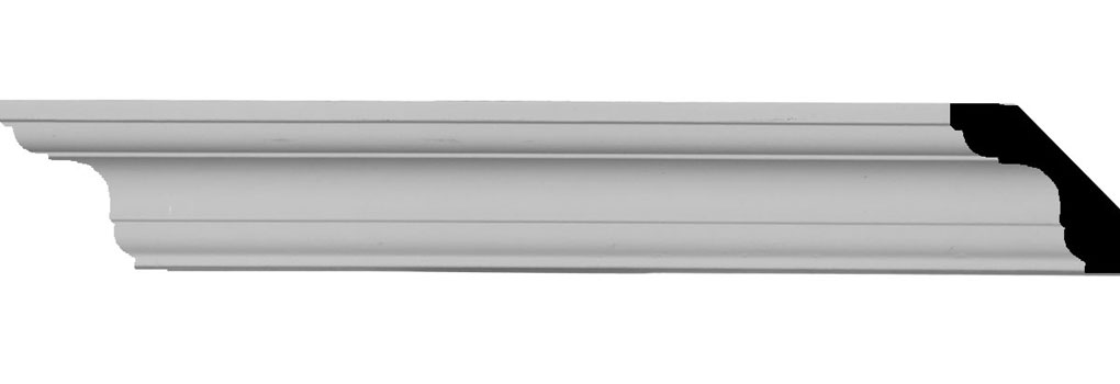 "1 3/4""H x 1 3/4""P x 2 1/2""F x 94 1/2""L Edinburgh Traditional Smooth Crown Moulding"