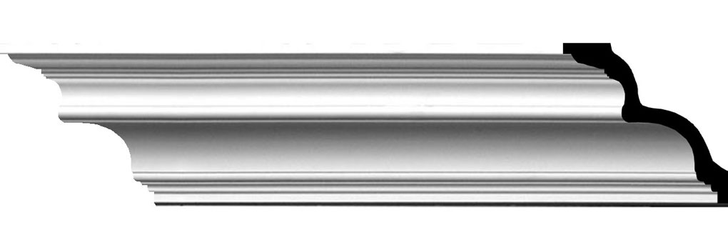 "3 7/8""H x 3 7/8""P x 5 1/2""F x 94 1/2""L Foster Traditional Smooth Crown Moulding"