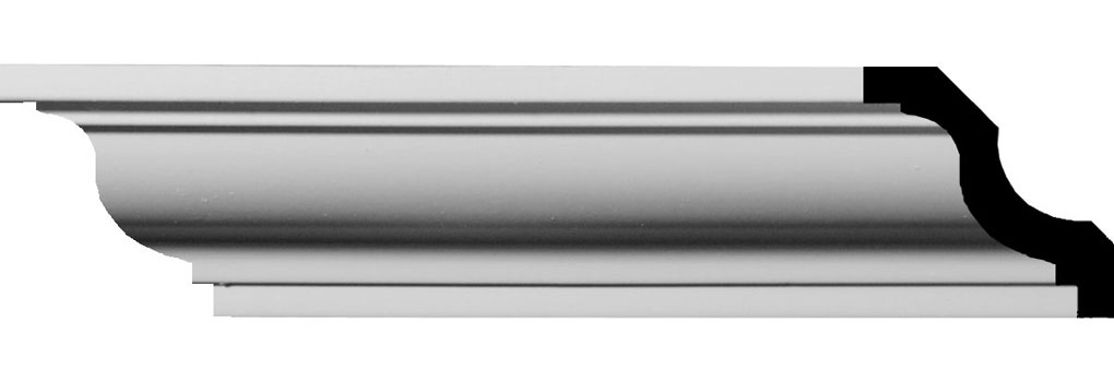 "1 5/8""H x 1 5/8""P x 2 1/4""F x 94 1/2""L Jackson Traditional Smooth Crown Moulding"
