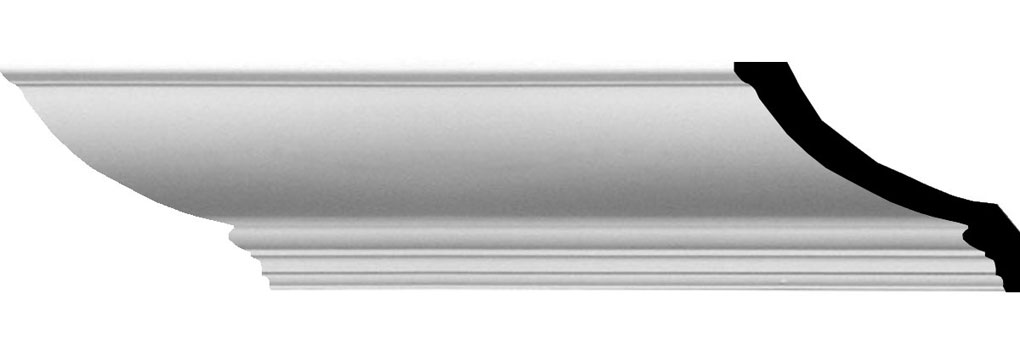 "6 1/2""H x 5 3/4""P x 8 5/8""F x 94 1/2""L Claremont Traditional Smooth Crown Moulding"