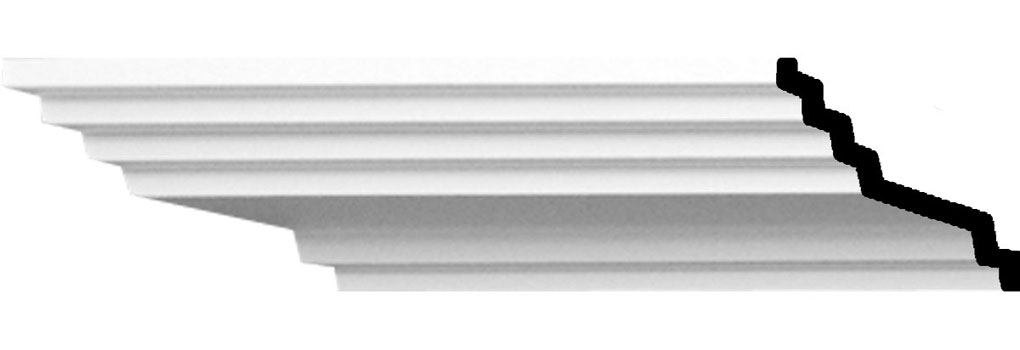 "1 3/4""H x 4""P x 4 1/2""F x 94 1/2""L Adonis Traditional Smooth Crown Moulding"