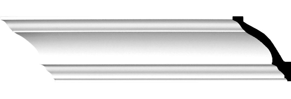 "3 1/4""H x 3 1/4""P x 4 1/2""F x 94 1/2""L Salem Traditional Smooth Crown Moulding"