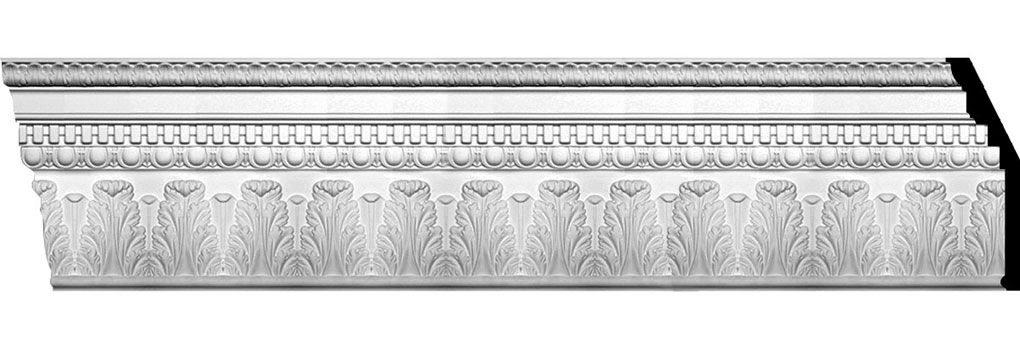 "11 7/8""H x 4""P x 12 5/8""F x 94 1/2""L Chesterfield Dentil & Egg Crown Moulding"