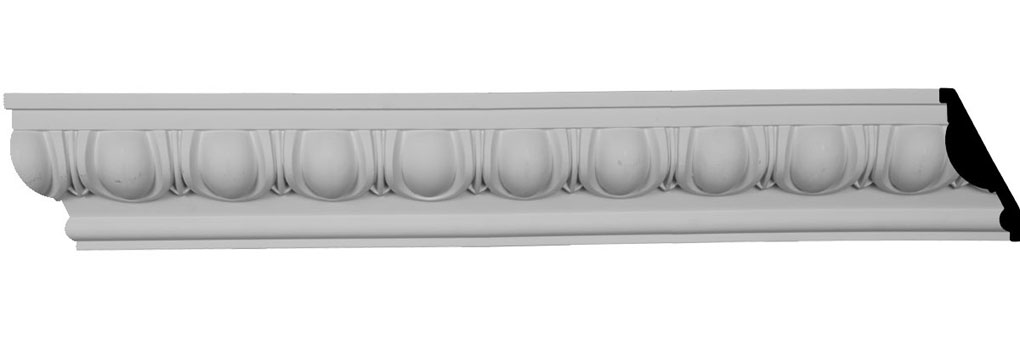 "4 3/4""H x 2 3/8""P x 5 1/4""F x 96""L Egg & Dart Crown Moulding"
