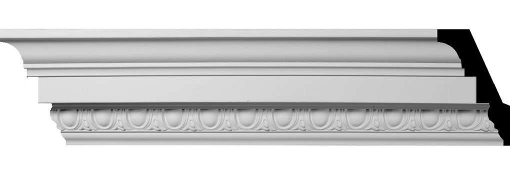 "3 1/2""H x 3 1/2""P x 5""F x 96""L Sussex Egg & Dart Crown Moulding"