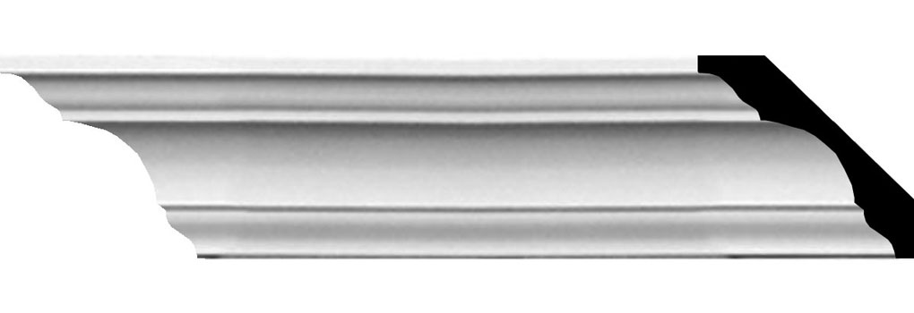 "1 3/4""H x 1 3/4""P x 2 5/8""F x 94 1/2""L Traditional Smooth Crown Moulding"