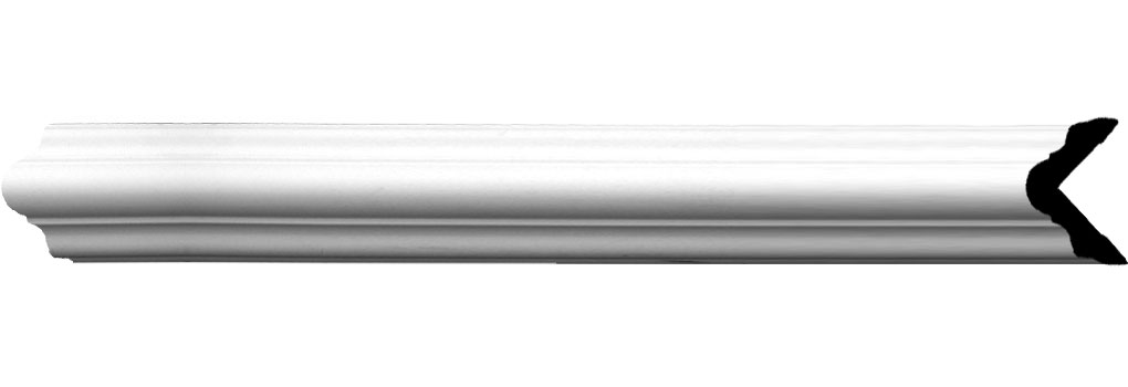 "1 1/2""H x 1 1/2""P x 2 1/8""F x 94 1/2""L Cole Smooth Corner Moulding"