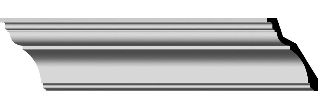 """5 1/2""""H x 3 7/8""""P x 6 3/4""""F x 96""""L Traditional Smooth Crown Moulding"""