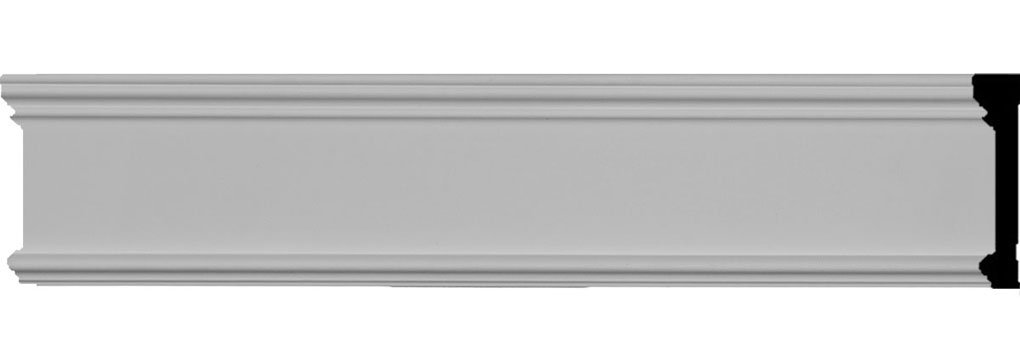 "3 1/8""H x 5/8""P x 94 1/2""L Pierced Moulding Backplate, fits Pierced Moulding Heights 2"" and under"