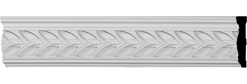"3 1/8""H x 5/8""P x 96""L Monique Pierced Moulding with Backplate"