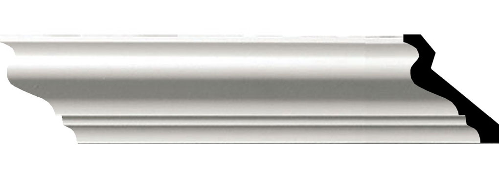 """2 1/2""""H x 2 1/8""""P x 3 3/4""""F x 94 1/2""""L Anthony Smooth Crown Moulding"""