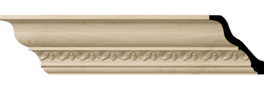 "3 5/8""H x 3 1/2""P x 5""F x 94 1/2""L Lanarkshire Carved Wood Crown Moulding"