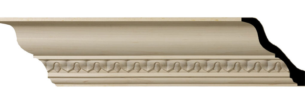 "4 7/8""H x 4 3/4""P x 6 3/4""F x 94 1/2""L Lanarkshire Carved Wood Crown Moulding"