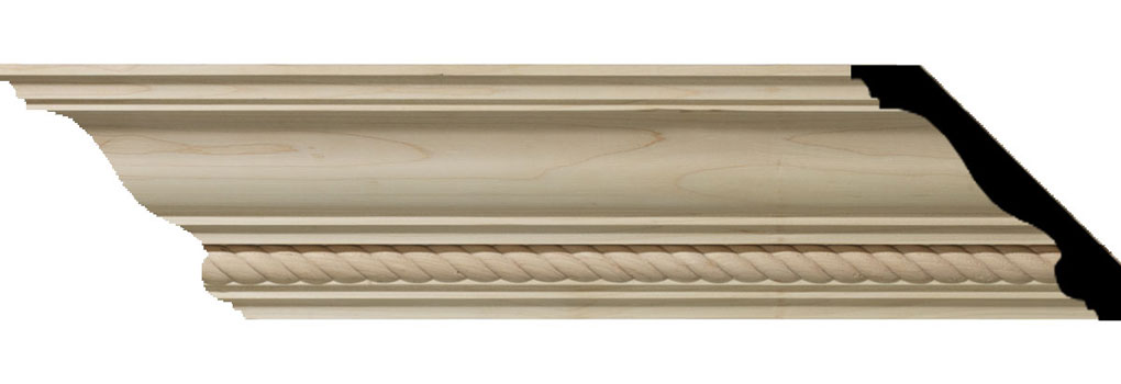 "4 3/4""H x 4 7/8""P x 6 3/4""F x 94 1/2""L Andrea Rope Carved Wood Crown Moulding"