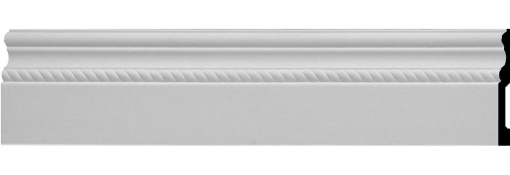 "6""H x 5/8""P x 94 1/2""L Oslo Rope Baseboard Moulding"