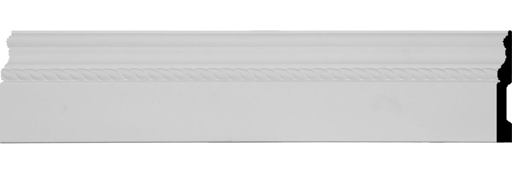 "4 1/2""H x 5/8""P x 94 1/2""L Oslo Rope Baseboard Moulding"