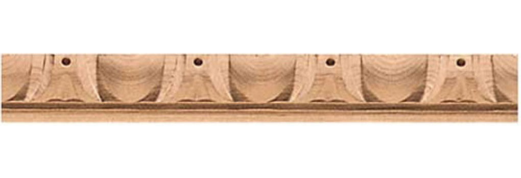 "1 5/8""W x 1 1/4""P, 3"" Repeat, Molding Egg & Dart, 8' Length,"