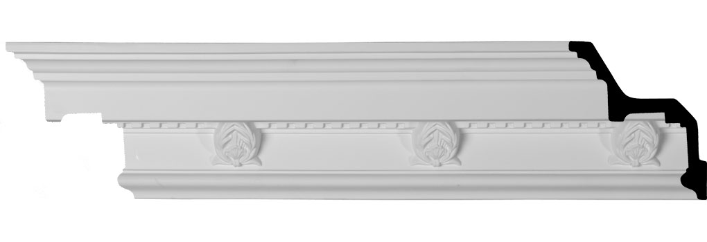 "4 1/8""H x 5""P x 6 1/2""F x 94 1/2""L Cole Crown Moulding"