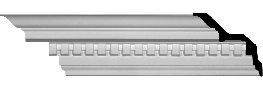 "5""H x 5""P x 7 1/8""F x 94 1/2""L Dentil Crown Moulding"