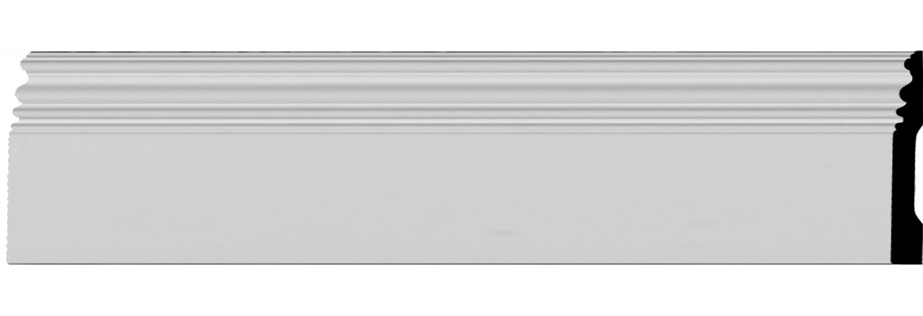 "5""H x 3/4""P x 94 1/2""L Classic Baseboard Moulding"