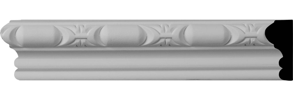 "1 3/4""H x 7/8""P x 96""L, (1 7/8"" Repeat) Classic Barrel Panel Moulding"