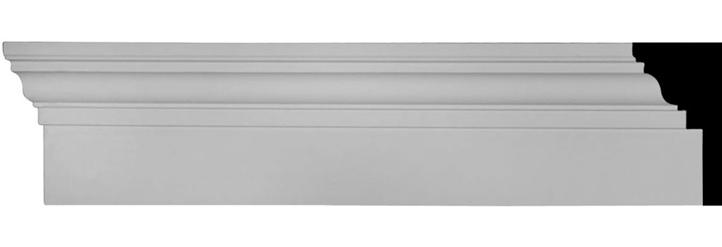 "6""H x 96""W x 2 3/4"" Top Projection x 1"" Bottom Projection Traditional Fascia Header"