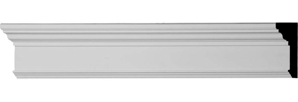 "CRHM07X96TR 7 1/4""H x 94 1/2""W  x 2 3/4"" Top Projection x 1"" Bottom Projection Traditional Fascia Header"