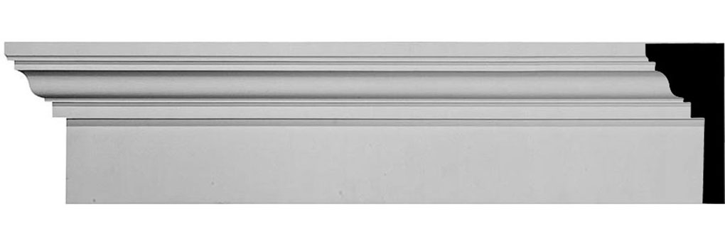 "9""H x 96""W x 4 1/4"" Top Projection x 1"" Bottom Projection Traditional Fascia Header"