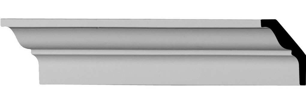 "2 3/8""H x 1 5/8""P x 2 7/8""F x 96 1/8""L Robin Smooth Crown Moulding"