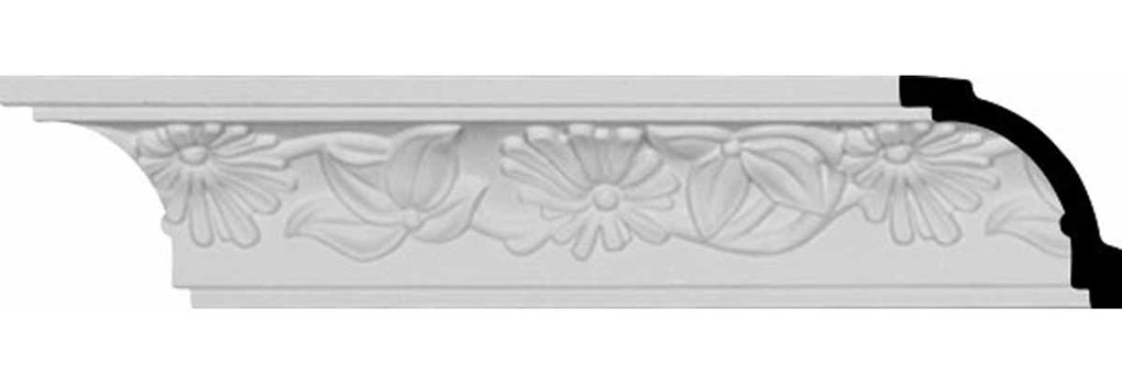 "2 1/8""H x 1 7/8""P x 2 7/8""F x 96""L, (6 3/8"" Repeat), Damon Crown Moulding"