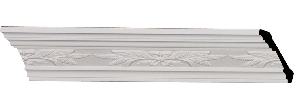 "3 1/4""H x 3 1/4""P x 4 1/2""F x 94 1/2""L, (8"" Repeat), Harvest Crown Moulding"