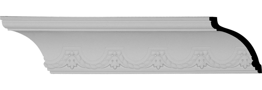 "3 1/2""H x 3 3/8""P x 4 7/8""F x 94 1/2""L, (3 7/8"" Repeat), Lunel Crown Moulding"