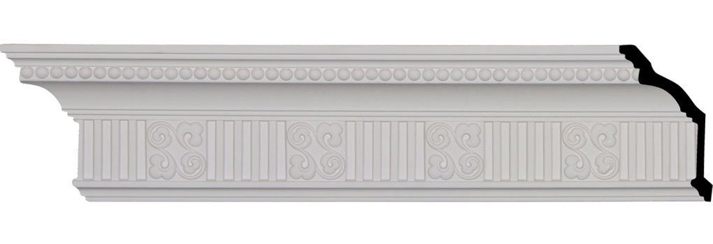 "4 3/4""H x 3 1/8""P x 5 3/8""F x 94 1/2""L, (3 7/8"" Repeat), Edwards Crown Moulding"