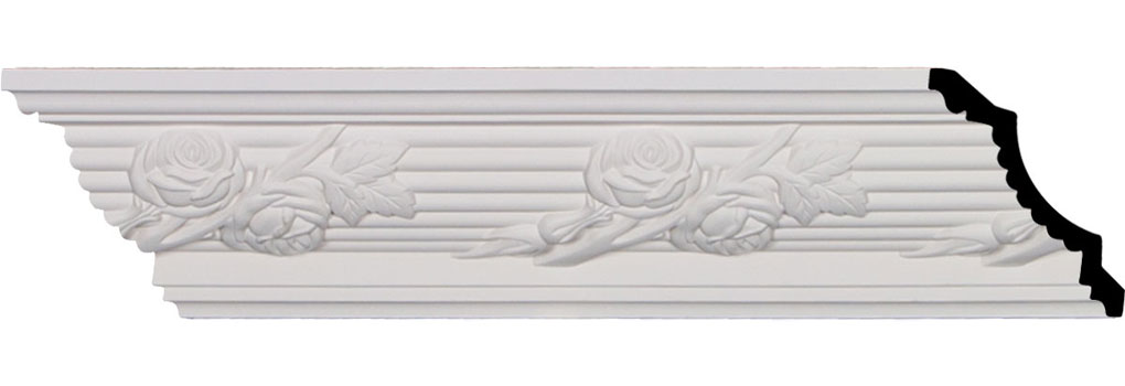 "4 1/4""H x 4 1/4""P x 6""F x 94 1/2""L, (7 7/8"" Repeat), Winston Crown Moulding"