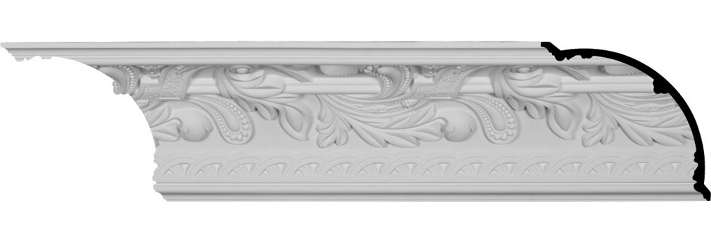 "11 1/8""H x 11 1/8""P x 15 3/4""F x 94 1/2""L, (9 5/8"" Repeat), Kinsley Crown Moulding"