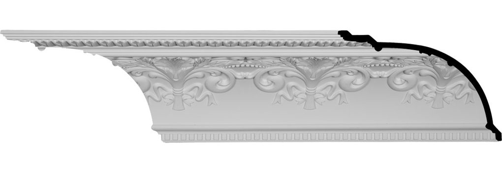 "11 3/8""H x 16""P x 19 5/8""F x 94 1/2""L, (16"" Repeat), Sydney Crown Moulding"