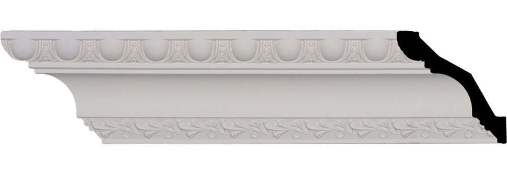 "3 1/4""H x 3 1/4""P x 4 5/8""F x 96""L, (1 5/8"" Repeat), Egg & Dart Crown Moulding"