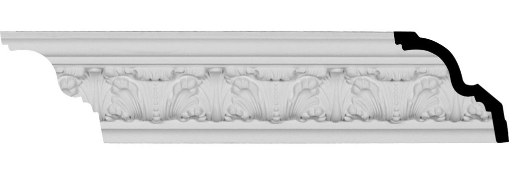 "3 1/4""H x 3 1/2""P x 4 7/8""F x 94 1/2""L, (4 7/8"" Repeat), Colton Acanthus Crown Moulding"
