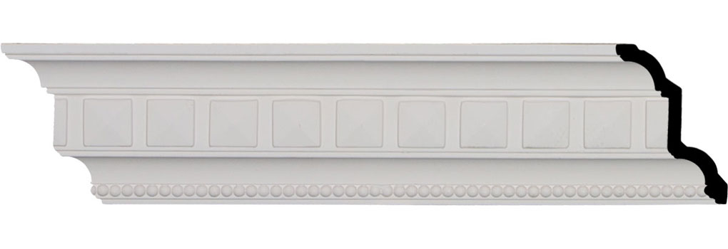 "4 3/8""H x 3""P x 5 1/8""F x 96""L, (1 5/8"" Repeat), Swindon Egg and Dart Crown Moulding"