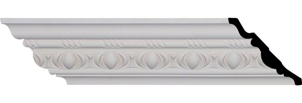 "4 3/4""H x 4 3/4""P x 6 3/4""F x 94 3/8""L, (3 1/8"" Repeat), Jackson Egg and Dart Crown Moulding"