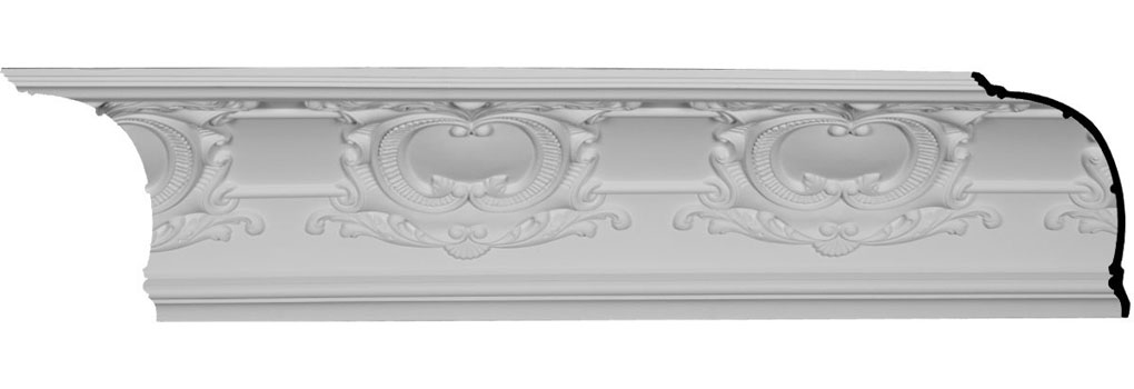 "12""H x 12 5/8""P x 17 1/2""F x 94 1/2""L, (16"" Repeat), Emery Cove Crown Moulding"