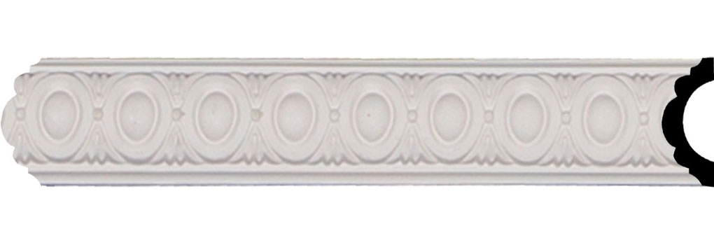 "1 3/4""H x 3/4""P x 96 1/8""L, (1 1/8"" Repeat), Egg & Dart Panel Moulding"