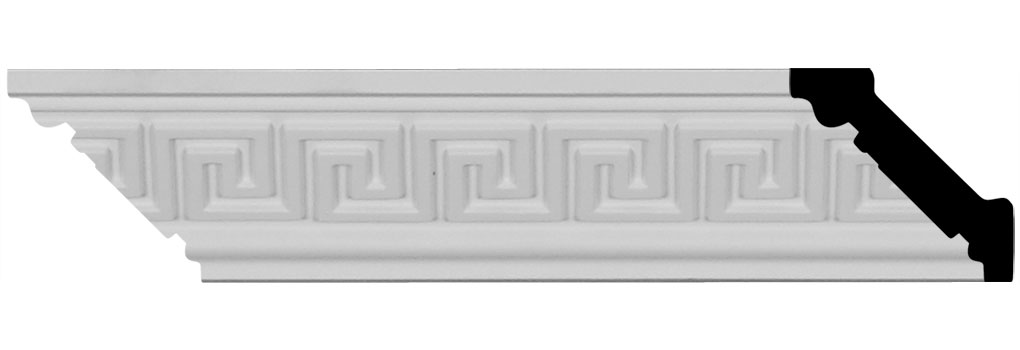 "2 1/8""H x 2 1/8""P x 3""F x 96""L Eris Crown Moulding"