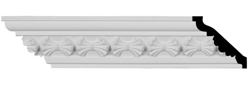 "3 1/8""H x 3 1/8""P x 4 1/2""F x 94 1/2""L Butterfly Crown Moulding"